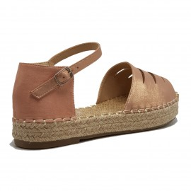 NuPied Espadrille rose irisé