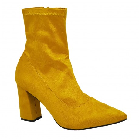 Bottine jaune moutarde