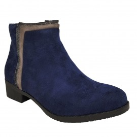 Bottine bleu en nubuck