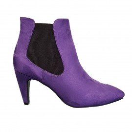 Bottine violette en nubuck