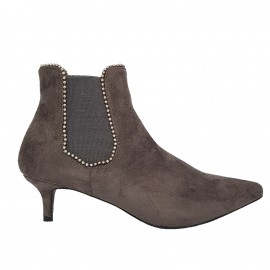 Bottine grise en nubuck