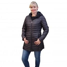 Manteau doudoune noire réversible