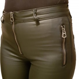 Pantalon slim en similicuir