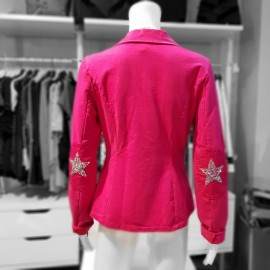 Veste fushia en sweat