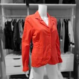 Veste orange en sweat