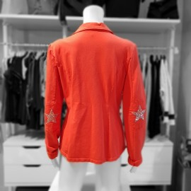 Veste orange en sweat