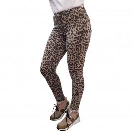 Pantalon slim léopard