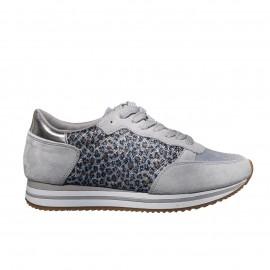 Basket grise léopard