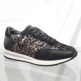 Basket léopard noir