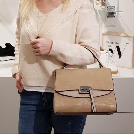 Sac à main beige