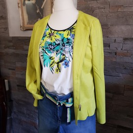 T-Shirt BETTY BARCLAY à motif fleuris et strass