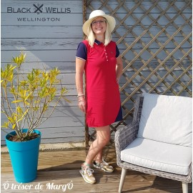Robe polo rouge BLACK WELLIS