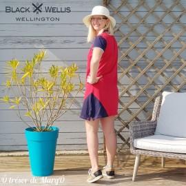 Robe polo rouge BLACK WELLIS