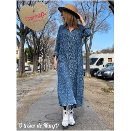 Robe blue jean Marguerite de chez CHANTAL B