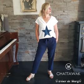 Pantalon Syp2 bleu/noir CHATTAWAK