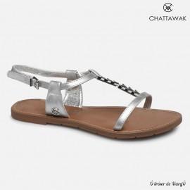 Sandale argentée Petunia de chez CHATTAWAK