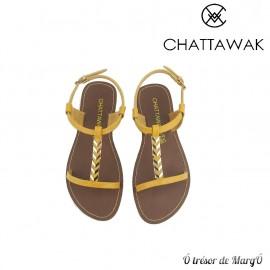 Sandale jaune Petunia de chez CHATTAWAK