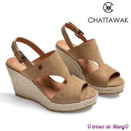 Nu pied compensé Jacinthe de chez CHATTAWAK