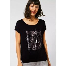 T-shirt Street One à paillettes