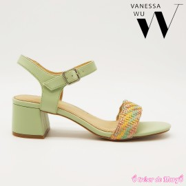 Nu-pied à talon multicolore VANESSA WU