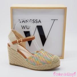 Nu-pied compensé multicolore VANESSA WU