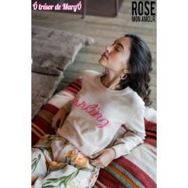 Pull Cream ROSE MON AMOUR